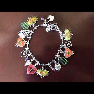 """Brighton heart charm bracelet 7.5"""" long"""